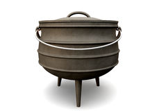 South African Potjie Pot Front Royalty Free Stock Image