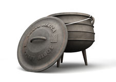 South African Potjie Pot Front Stock Images