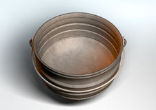 South African Potjie Pot Inside Empty Royalty Free Stock Image