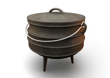 South African Potjie Pot Perspective Stock Image