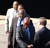 South African president Jacob Zuma at the V&A Waterfront in Cape Town Stock Photo