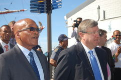 South African President Jacob Zuma at V&A Waterfro Royalty Free Stock Photography