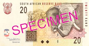 20 south african rand bank note obverse