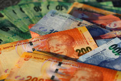 South African Rand Banknotes Stock Photos