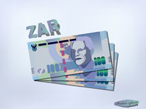 South african rand money paper design Royalty Free Stock Images