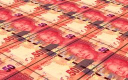 South african rands bills stacks background. Royalty Free Stock Images
