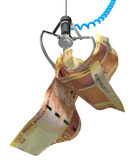 South African Rands In A Robotic Claw Stock Photography