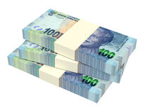 South african rands  on white background. Computer generated 3D photo rendering Stock Photo