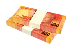 South african rands  on white background. Royalty Free Stock Photo