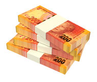 South african rands  on white background. Stock Image