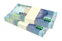 South african rands  on white background. Computer generated 3D photo rendering Stock Photos