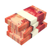 South african rands  on white background. Stock Photo