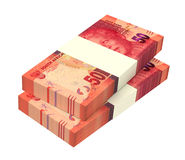 South african rands  on white background. Royalty Free Stock Images