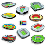 South african soccer stadiums Royalty Free Stock Photography