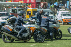 South African Traffic Police with Motorbikes Stock Photography