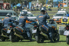 South African Traffic Police on Motorbikes Stock Photos