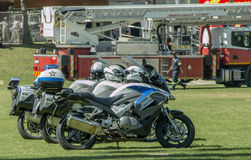 South African Traffic Police Motorbikes in a row. South African Traffic Police Motorbikes Royalty Free Stock Photo