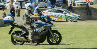 South African Traffic Policeman Motorbikes Royalty Free Stock Image