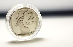 South African Two Rand Stock Photo