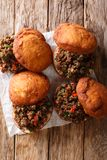 South African Vetkoek aka Fat Cake, crispy outside and warm and Royalty Free Stock Photography