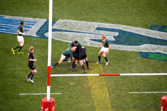 South African vs All Blacks Royalty Free Stock Photo