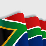 South African waving Flag. Vector illustration. Stock Image