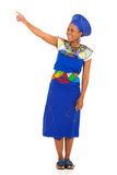 South african woman pointing Stock Image