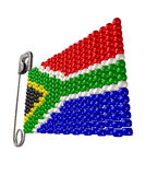 South African Zulu Bead Flag Stock Photos