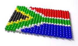 South African Zulu Bead Flag Stock Photos