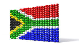 South African Zulu Bead Flag Stock Image