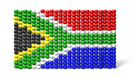 South African Zulu Bead Flag Stock Photography