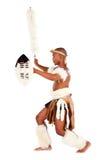 South african zulu dancer Stock Photography