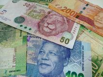 South Africans money. Nelson and the Lion on the note royalty free stock photos
