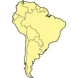 South america Royalty Free Stock Images