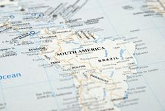 South america. This is an image of south america map stock photo