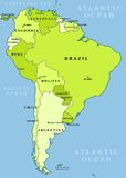 South America administrative map Stock Photography