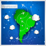South America air travel abstract background Stock Photos
