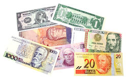 South America Banknotes royalty free stock image