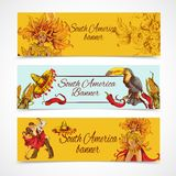 South america banners set Royalty Free Stock Images