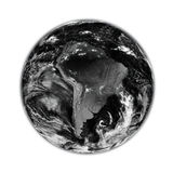 South America on black Earth Stock Image