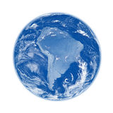 South America on blue Earth Stock Images