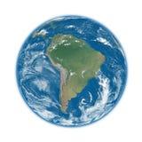 South America on blue Earth Stock Photos