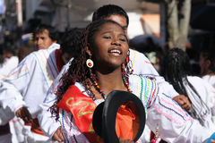South America - Bolivia , Sucre Fiesta. Sucre, Bolivia - September 10: Fiesta de la Virgen de Guadalupe in Sucre. Participant in the dance parade in Sucre on Royalty Free Stock Photos