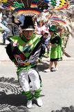 South America - Bolivia , Sucre Fiesta. SUCRE, BOLIVIA - SEPTEMBER 10: Fiesta de la Virgen de Guadalupe in Sucre. Participants in the dance parade in Sucre on Royalty Free Stock Photo