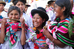 South America - Bolivia , Sucre Fiesta. SUCRE, BOLIVIA - SEPTEMBER 10: Fiesta de la Virgen de Guadalupe in Sucre. Young participants in the dance parade in Sucre Stock Photography