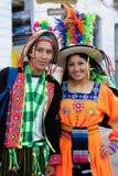 South America - Bolivia , Sucre Fiesta. SUCRE, BOLIVIA - SEPTEMBER 10: Fiesta de la Virgen de Guadalupe in Sucre. Young participants in the dance parade in Sucre Stock Photo