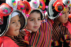 South America - Bolivia , Sucre Fiesta. SUCRE, BOLIVIA - SEPTEMBER 10: Fiesta de la Virgen de Guadalupe in Sucre. Young participants in the dance parade in Sucre Royalty Free Stock Images