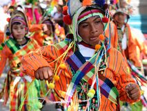 South America - Bolivia , Sucre Fiesta. SUCRE, BOLIVIA - 10 SEPTEMBER 2011: Fiesta de la Virgen de Guadalupe in Sucre. Young participants in the dance parade in Royalty Free Stock Photo