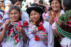 South America - Bolivia , Sucre Fiesta. SUCRE, BOLIVIA - 10 SEPTEMBER 2011: Fiesta de la Virgen de Guadalupe in Sucre. Young participants in the dance parade in Stock Photography