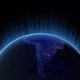 South America city lights Royalty Free Stock Image